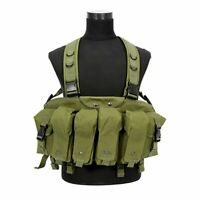Combat Vest Camouflage Tactical Airsoft Ammo Chest Rig Magazine Carrier Military