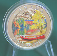 2013 Canada $20 Autumn Bliss coloured coin 99.99% silver - in stock