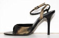 Sale!!! VALENTINO GARAVANI Sandals Shoes Leather Jacquard Ankle-Strap 39EU/8.5US