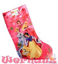 Disney Princess Christmas Stocking Snow White, Cinderella, Belle and Aurora, New