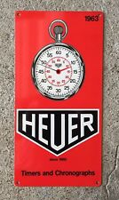Tag Heuer Swiss Watch Timer Chronograph Monaco Racing Stopwatch Vintage Sign