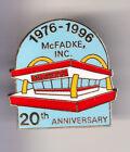 RARE PINS PIN'S .. MC DONALD'S RESTAURANT MC FADKE 1976 1996 ARCHITECTURE ~15