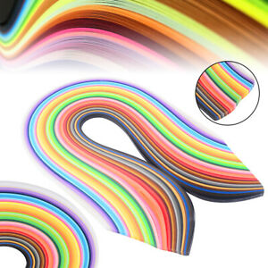 500* 5x540mm Quilling Paper Scrapbooking Strips DIY Hand Craft Scrapbook Kits