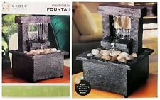 ORDER Home Collection Cordless Meditation Small Table Fountain Battery