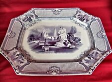 Antique Large Ironstone Corrella Pattern Platter, Barker & Son, 1850-1860