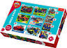 Trefl 10 In 1 20, 35 And 48 Piece Fireman Sam Rescue Team Floor Jigsaw Puzzles