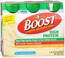 BOOST High Protein Nutritional Energy Drinks Vanilla 48 oz
