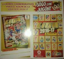 Set 2 Cromos Conmemorativos Liga Este 2016 2017 Stickers Panini Sólo Con Jugón