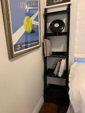 Five Tier leaning  Wooden Bookshelf