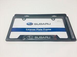 "Genuine Subaru MATTE BLACK License Plate Frame SOA342L167  ""Subaru"" logo Oem New"