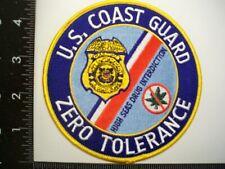 Federal Coast Guard USCG MLE Zero Drug Tolerance Patch Police DEA  USCS Drug TF