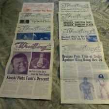 8 St Louis Wrestling Club Programs,1975-80 ERICH,FUNK, Flair, Brody,Ox Baker+