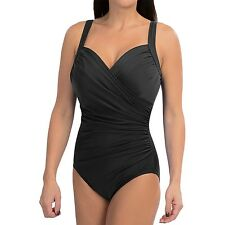 New MIRACLESUIT Sanibel Underwire Tank One Piece Swimsuit Black Size 10