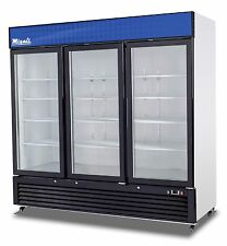 Migali C-72Rm-Hc Three Door Refrigerator Glass Door Merchandiser Free Shipping