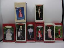 BARBIE COLLECTORS SERIES Hallmark Ornaments Silken Flame Gay Parisienne LOT 8