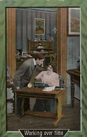 Postcard Frisky Man with Secretary assistant 1910 St.Paul Minn , Nelson