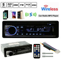 Wireless Car Stereo Audio In-Dash FM Aux Input Receiver SD USB MP3 Radio Player