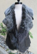 GORGEOUS STUNNING WOMENS FRENCH LAMB VEST - MUST SEE!