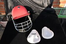 Junior COUNTRY CRICKET SAFETY HELMET and  2 x CRICKET boxes