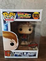 Funko Pop Back to the Future Marty in Jacket 1025 Special Edition Vinyl Figure