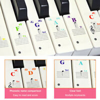 Piano Stickers Note for 49 /61/ 76/ 88 Key Keyboards Transparent and Removable.