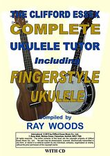 CLIFFORD ESSEX UKULELE & UKULELE-BANJO TUTOR + CD. WIRE SPIRAL BOUND A4 58 PAGES