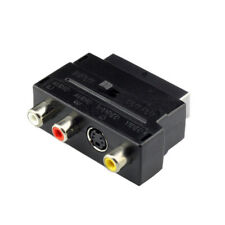 RGB Scart to Composite 3RCA S-Video AV TV Audio Adapter Recorder TV Television
