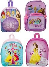 Kids Boys Girls Disney Princess Backpack School Bag Rucksack Children
