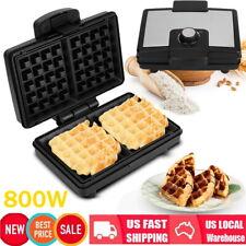 800W Waffle Maker Adjustable temperatur Dash Panini Press Snack Breakfast Square