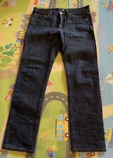 "A.P.C. PETIT STANDARD 30"" Denim Jeans MEN RAW INDIGO Original Hem 28"""