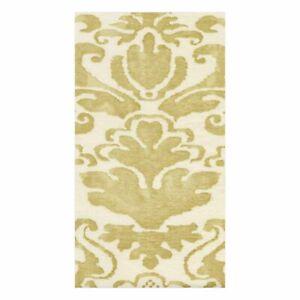 Caspari Paper Linen Guest Towel Napkins, Palazzo Light Gold, 2 Packs (10120GG)