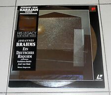 LaserDisc JOHANNES BRAHMS Ein deutsches requiem Op 45 HERBERT VON KARAJAN LD