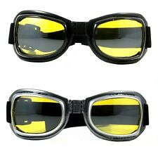 NWT Motorcycle Goggles Hunter Foldable Padded Anti Fog Night Vision