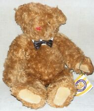 """Vermont Teddy Bear 24"""" Jointed Plush Brown Bear With Bowtie"""