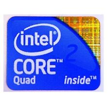 1x Intel Core 2 Quad Inside Stickers Chrome Windows 7 Sticker 20mmx16mm Approx
