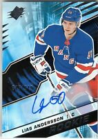 LIAS ANDERSSON 2018-19 SPX Hockey Rookie AUTOGRAPH #245/249