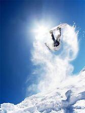 ART PRINT POSTER FOTO SPORT SNOWBOARD JUMP AIR SOLE NEVE FOTO lfmp1262