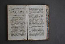 Gioco Giochi Biliardo Pallone Dama Scacchi Tresette Carte Bestia Bisteghi 1785