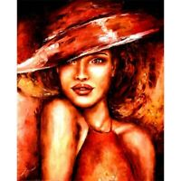 Full Drill Diamond Painting 5D DIY Cross Stitch Decor Woman Looking Sideways