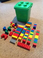 Used Lego Duplo, 68 Pieces In Green Tub.