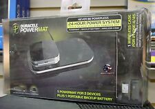 Duracell Powermat Wireless Charging Black Set for iPHONE 4/4S + Backup Battery