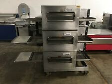 Lincoln Impinger Triple Stack Electric Conveyor Pizza Sub Oven WORKS GREAT!