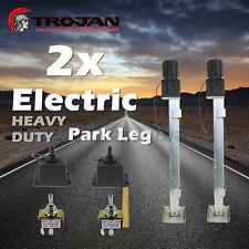 2 X TROJAN HEAVY DUTY ELECTRIC JACK STAND FOR TRAILERS CARAVANS JOCKEY PARK LEG