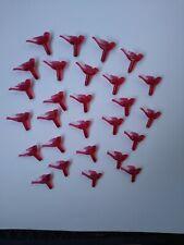 27 Vintage Dark Red Small Mini Doves Ceramic Christmas Tree