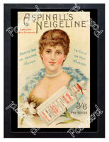 Historic Aspinall's Neigeline skin lotion c.1890 Advertising Postcard