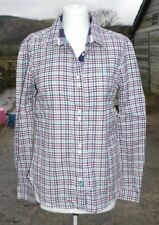 JACK MURPHY * Gorgeous BLUE Red GREEN Long Sleeve CHECK SHIRT * UK 10 *