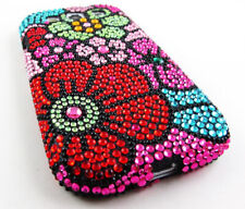 For Samsung Galaxy S III 3 Crystal Diamond BLING Case Phone Cover Multi Flower