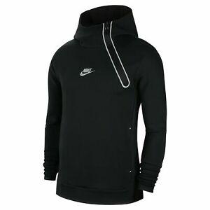 Nike Tech Fleece Pullover Hoodie Size XS, M,L,S Reflective Black White Fast Ship