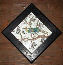 LONGWY BIRD TILE IN BLACK EASTLAKE FRAME14625A