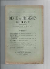 revue des provinces de France symboles héraldiques Bourgogne poètes patoisants